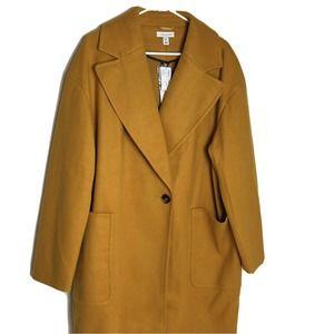 Top Shop Mustard Color Pea Coat Trench